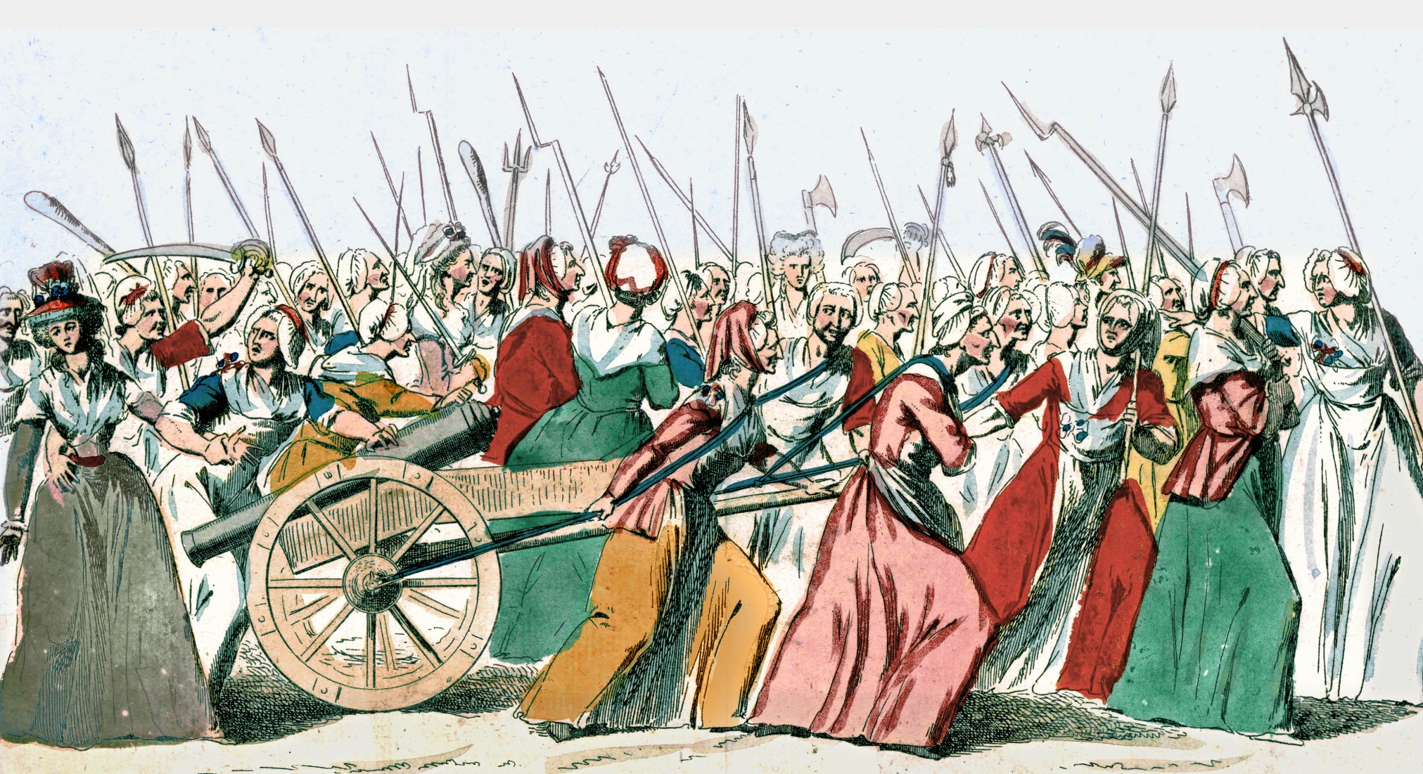 The March of the women on Versailles at the outset of the French Revolution